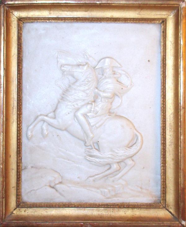 Napoléon au Grand Saint-Bernard - Biscuit d'après David
