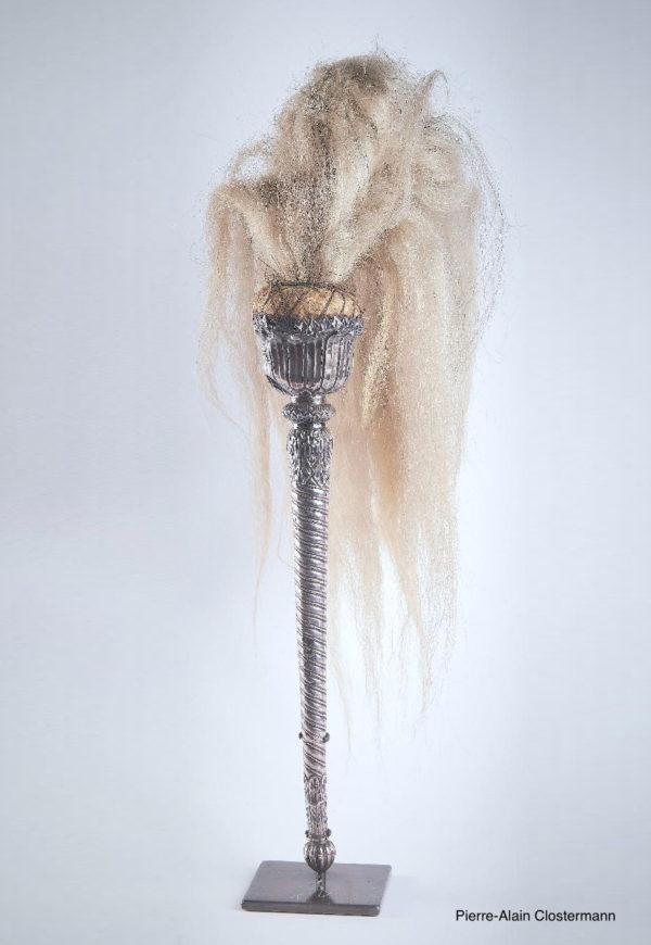 Chasse-mouche en argent - Inde, XVIIIe siècle