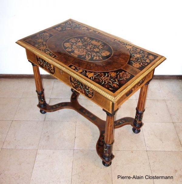 Table Louis XIV à la manière de Pierre Gole