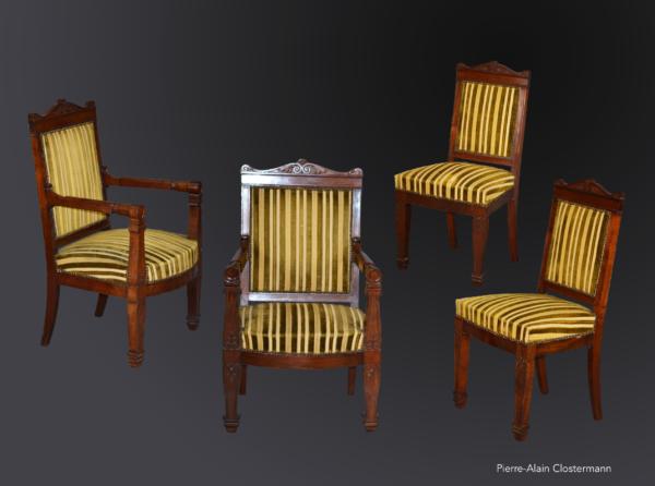 Fauteuils et chaises à balustres - Epoque Empire