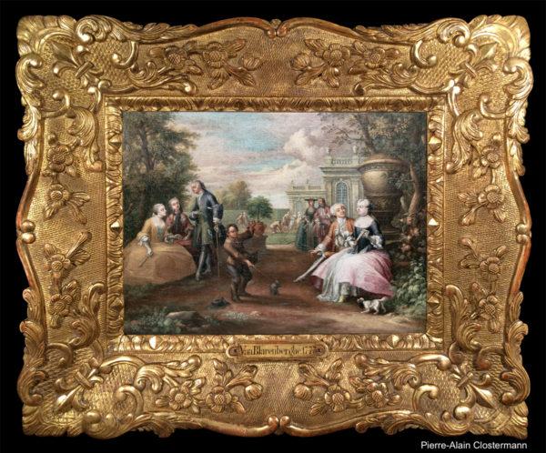 JG. VAN BLARENBERGHE - Promenade de la famille royale à Versailles