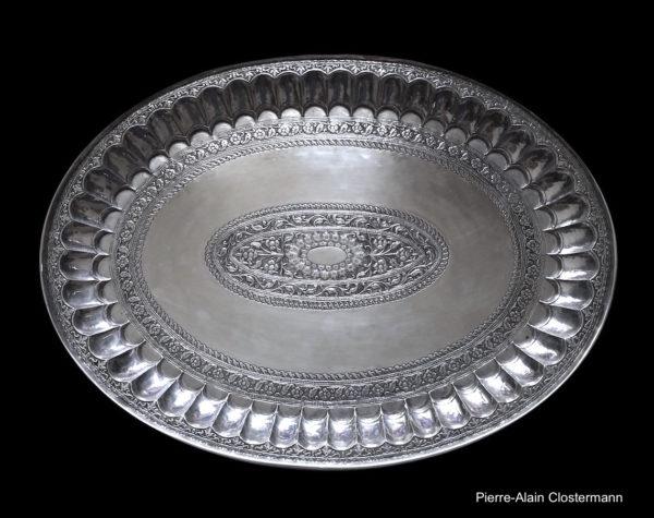 Rare Thali en argent - Inde, Deccan - début du XVIIIe siècle