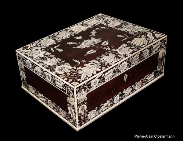 Important coffre en ivoire de Vizagapatam - Inde, vers 1740