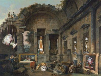 CLOSTERMANN - Découverte dans les ruines par Hubert Robert