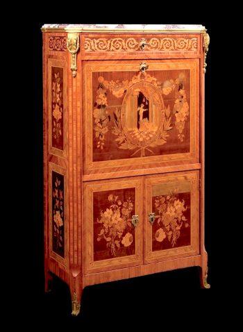 Secrétaire orné d'une scène antique estampillé Guillaume Kemp - Epoque Louis XVI 2